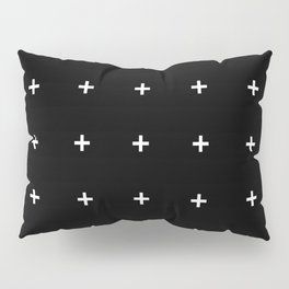PLUS ((white on black)) Pillow Sham