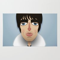 liam payne Area & Throw Rugs featuring Liam Gallagher by Dave Flanagan