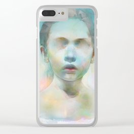 Open the eyes Clear iPhone Case