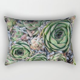 Succulents All Over Rectangular Pillow
