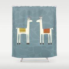 Everyone lloves a llama Shower Curtain
