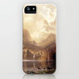 Albert Bierstadt - Among the Sierra Nevada, California iPhone Case