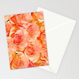 Orange Pink Flowers Stationery Cards