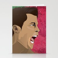ronaldo Stationery Cards featuring Cristiano Ronaldo by Pastran Designs