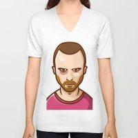 jesse pinkman V-neck T-shirts featuring Jesse Pinkman by Sherif Adel