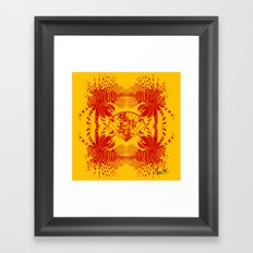 Chinese Cut Out Lion Fish Framed Art Print