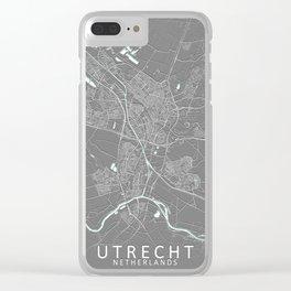 Utrecht Netherlands City Map Grey Clear iPhone Case