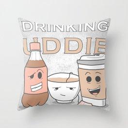 Drinking Buddies Throw Pillow