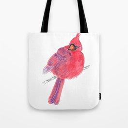 Glancing Cardinal Tote Bag
