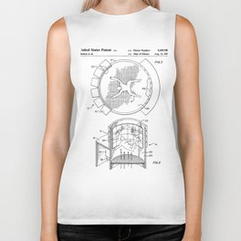 Skydiving Wind Tunnel Patent - Sky Diving Art - Black And White Biker Tank