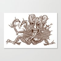 satan Canvas Prints featuring SaTaN by Kurz Daniel