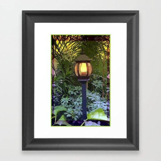 Lamp Light Framed Art Print