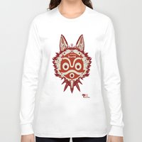 princess mononoke Long Sleeve T-shirts featuring Princess Mononoke by StraySheep