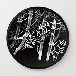 Black &White Bamboo Wall Clock