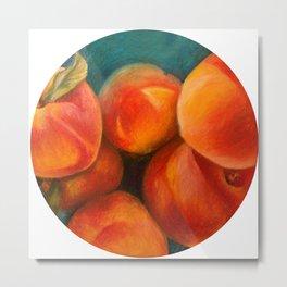 Round Peach Metal Print