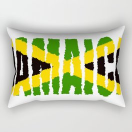 Jamaica Font with Jamaican Flag Rectangular Pillow
