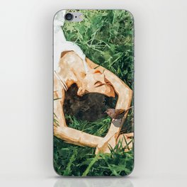 Jungle Vacay #painting #portrait iPhone Skin