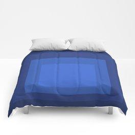 Block Colors - Blue Comforters