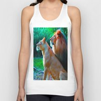 lions Tank Tops featuring Loyal Lions by 13th Moon Social Club