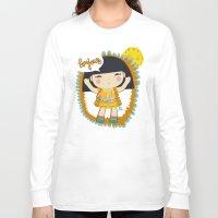 bonjour Long Sleeve T-shirts featuring Bonjour by maru y su cabeza