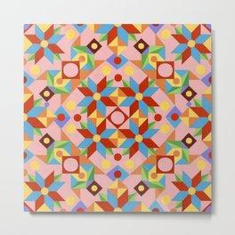 Pink Quilt Design Metal Print