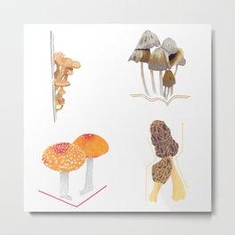 Mushroom Sticker Pack Metal Print