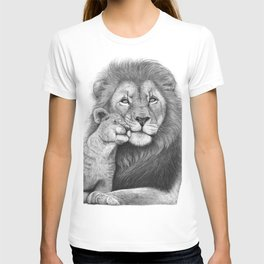 Lion with a baby T-shirt
