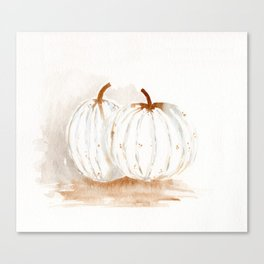 White Pumpkins Canvas Print