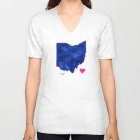 ohio V-neck T-shirts featuring Ohio by Kathy Morton Stanion