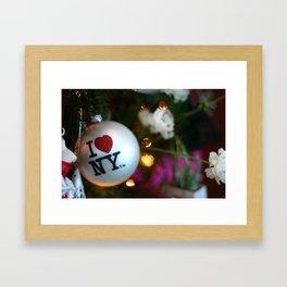 I HEART NY Ornament Framed Art Print