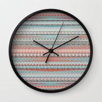 boho Wall Clocks featuring BOHO by Nika
