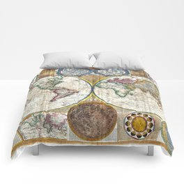 Old World Map print from 1794 Comforters