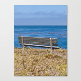 Bench Overlooking the Pacific Ocean Canvas Print