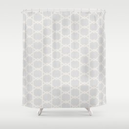 Interlock in Grey Shower Curtain