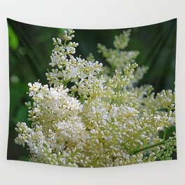Snowy lilac blossoms Wall Tapestry