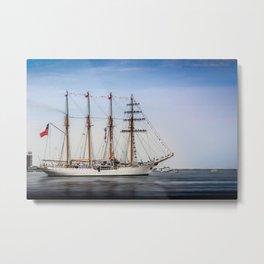Sail Boston - Chilean Esmeralda. Metal Print