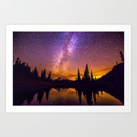 milky way Art Prints featuring Milky Way by EclipseLio