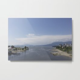 Vancouver from the Burrard Bridge Metal Print