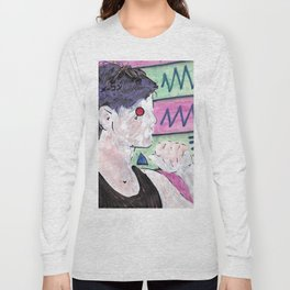 Milk Android Justin Consults Schrödinger's Love Triangle Long Sleeve T-shirt