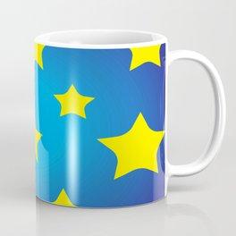 yellow star on blue sky Coffee Mug