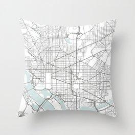 Washington DC map Throw Pillow