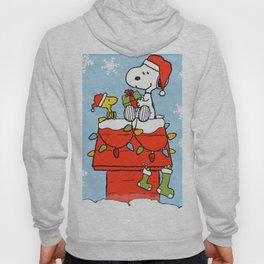 snoopy and woodstock christmas in home Hoody