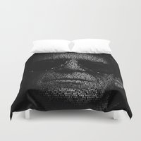 transformer Duvet Covers featuring LOU REED, SO FREE. by Robotic Ewe
