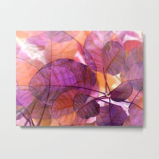 Purple Foliage Metal Print