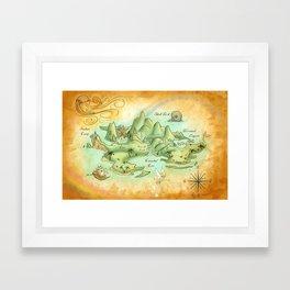 Neverland Map Framed Art Print