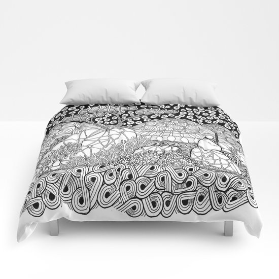 Zentangle Night Solitude Comforters