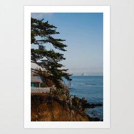 Lune Lens : Pacific Coast Cottage Art Print