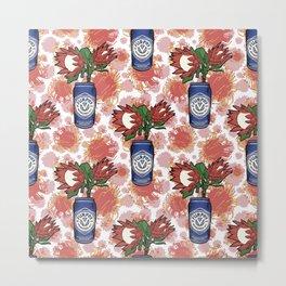 Furphy - Australian Beer with Florals - Protea Metal Print