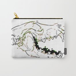 Glitch wolf  Carry-All Pouch