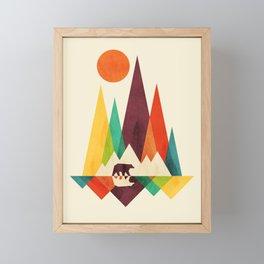Bear In Whimsical Wild Framed Mini Art Print
